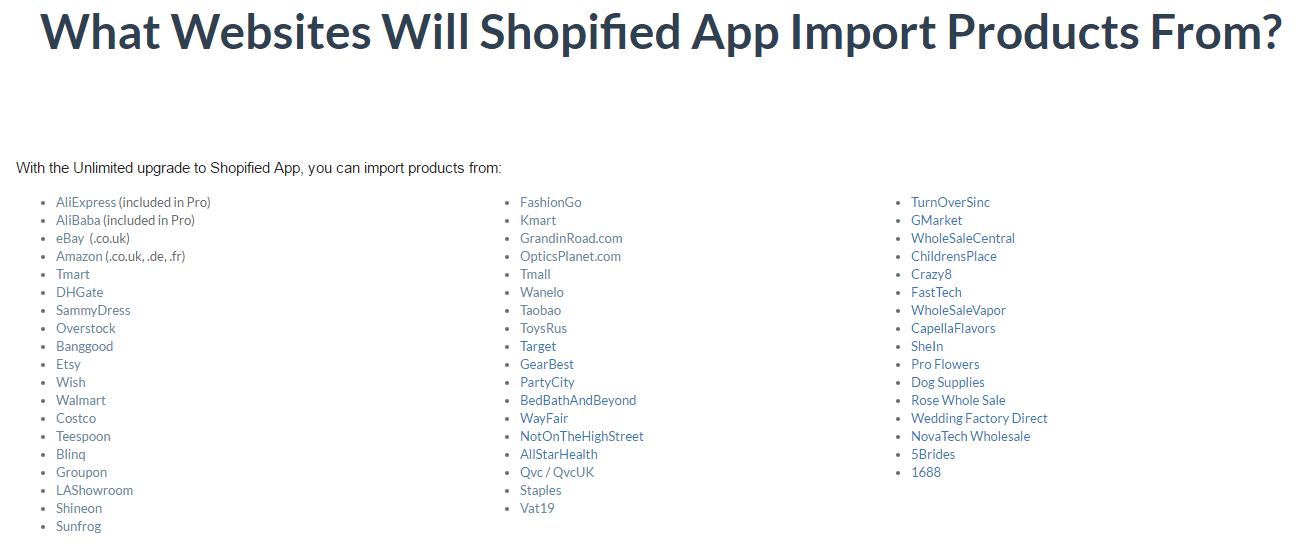 Shopified App - Import Products