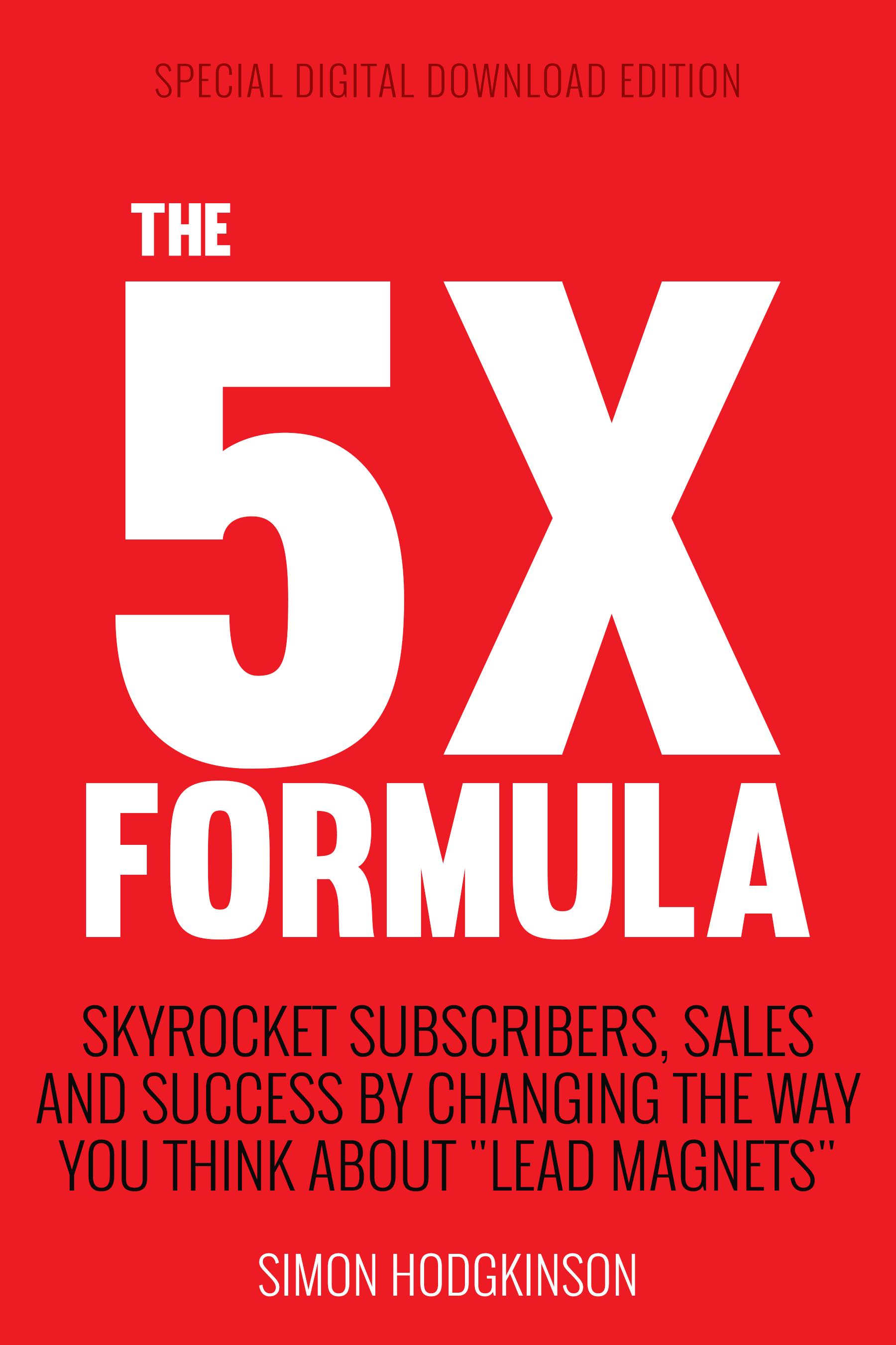 5X FORMULA by Simon Hodgkinson