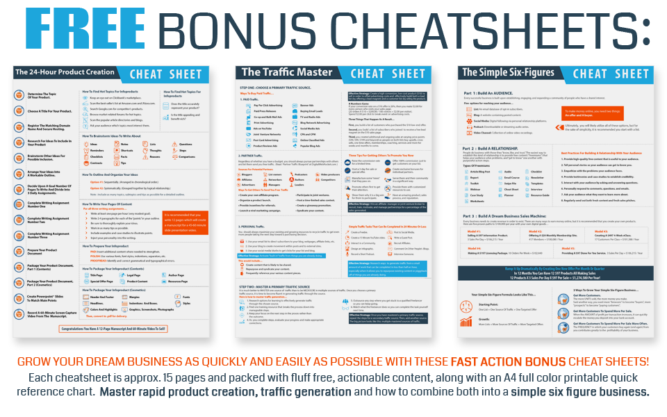 Fast Action Bonus Cheat Sheets
