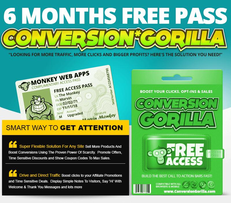 Conversion Gorilla Bonus