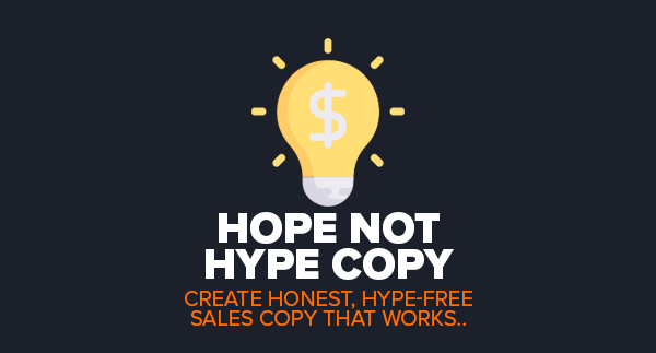HOPE NOT HYPE COPY PLR
